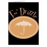 Fo' Drizzle Retro Umbrella - Orange Cards