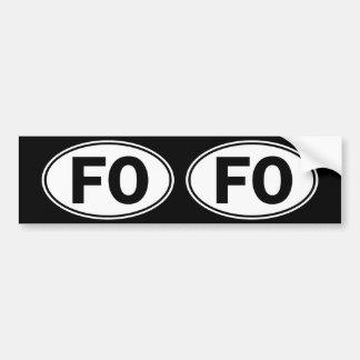 FO Oval Identity Sign Bumper Sticker