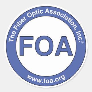 FOA logo small stickers