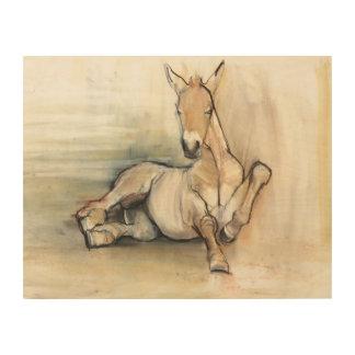 Foal 2012 wood print