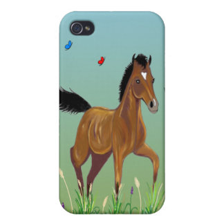 Foal and Butterflies Custom  iPhone 4 Cover