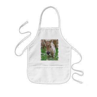 Foal Smelling Daisies Children's Smock Kids Apron