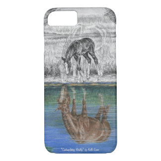 Foal Water Reflection of Horse iPhone 8/7 Case