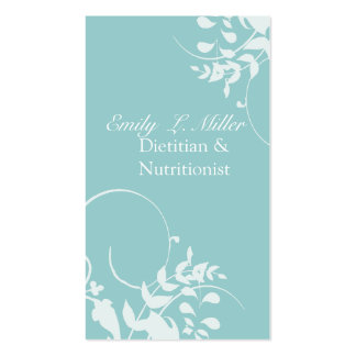 Foam Blue Branches Swirls Pack Of Standard Business Cards