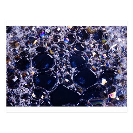 foam bubbles postcards