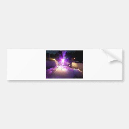 Foam Laser Lights Bumper Sticker
