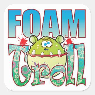 Foam Troll Square Sticker
