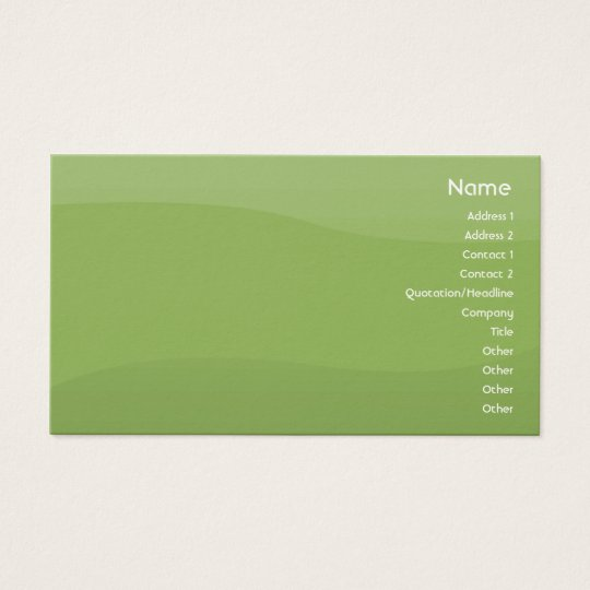 Foamgreen Waves - Business Business Card