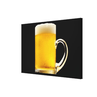 Foamy Beer Mug Stretched Canvas Print