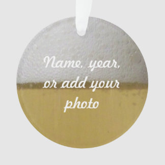 Foamy Frothy Beer Photo Ornament