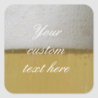 Foamy Frothy Beer Photo Square Sticker