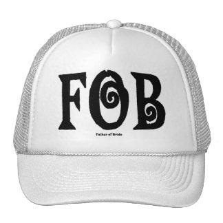 FOB Father of Bride Cap Black Trucker Hats