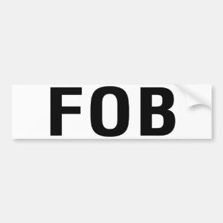 FOB Friend of Bill W Bumper Sticker
