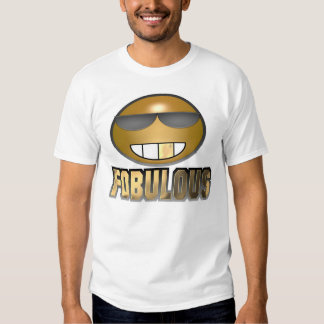 Fobulous Smiley Gold Tee Shirts