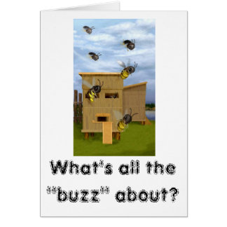 "FOC06677, What's all the ""buzz"" about? Greeting Card"