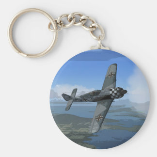 Focke Wulf 190 Keychain/Keyring Basic Round Button Key Ring