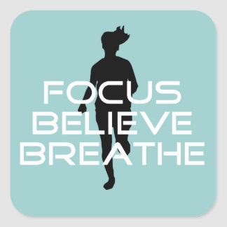 Focu Believe Breathe Square Sticker