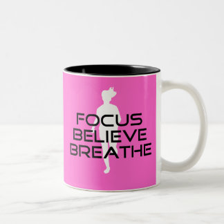 Focus Believe Breathe Coffee Mugs