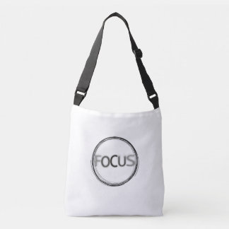 Focus Creative Typography Design Crossbody Bag