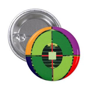 FOCUS Green Target EARTH  Global Warming NVN255 3 Cm Round Badge