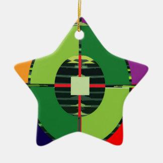 FOCUS Green Target EARTH  Global Warming NVN255 Ceramic Star Decoration