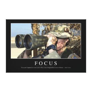 Focus: Inspirational Quote Canvas Print