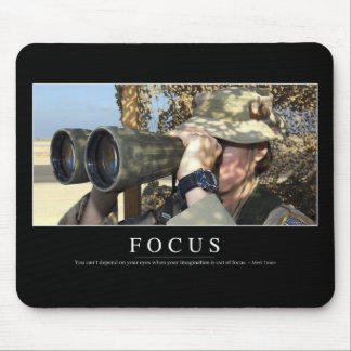 Focus: Inspirational Quote Mouse Mat