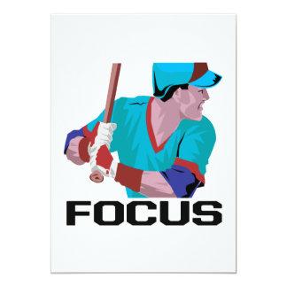 Focus 5x7 Paper Invitation Card