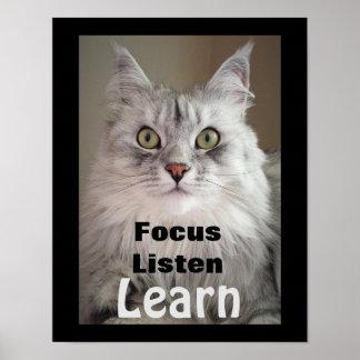Focus. Listen. Learn. Classroom Poster