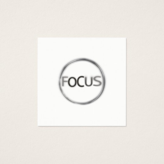 Focus Minimal Photography Modern  Professional Square Business Card