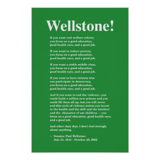 Focus on a good education, Wellstone 16x24 Poster