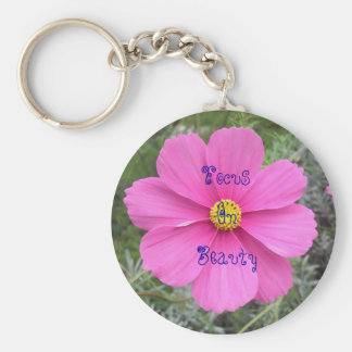 Focus On Beauty - Cosmos Flower Keychain