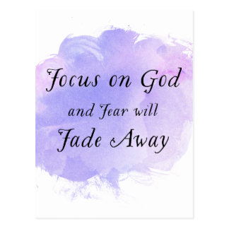 Focus on God Purple Watercolor Postcard
