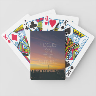focus on the future bicycle playing cards
