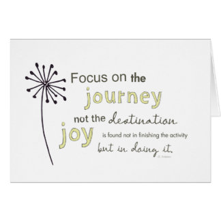 focus on the journey greeting card