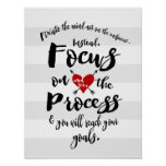 Focus on the Process Goal Inspiration Poster