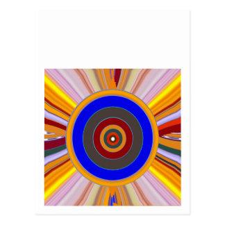 FOCUS Tool: Yoga Meditation Color Wheel DOT Postcard