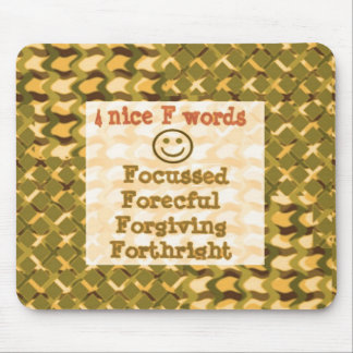 FOCUSSED Forgiving FORCEFUL thoughts LOWPRICE Mouse Pad