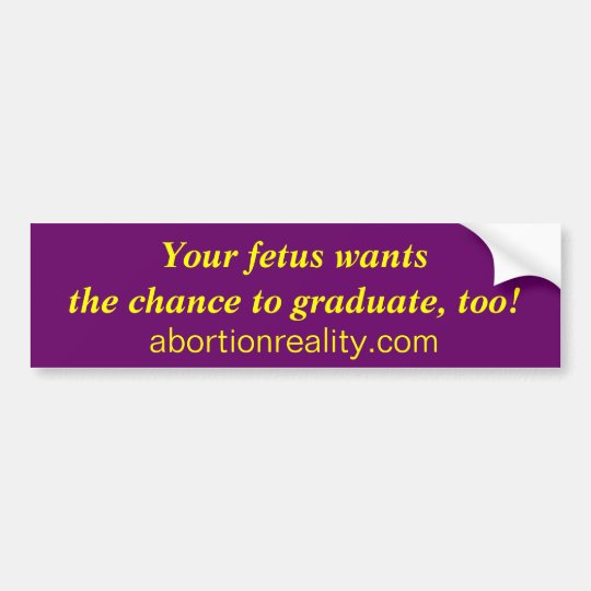 foetus graduate bumper sticker