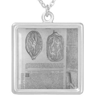 Foetus, illustration from 'Oeuvres' Silver Plated Necklace