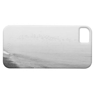 Fog and rain setting in along the shoreline iPhone 5 covers