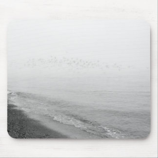 Fog and rain setting in along the shoreline mouse mat