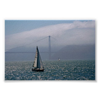Fog and Sail Poster