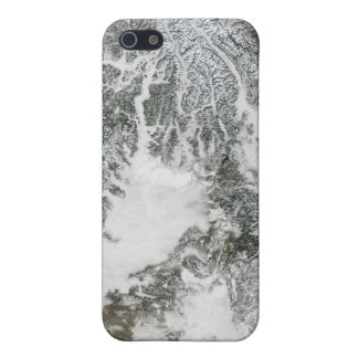Fog and snow in the Pacific Northwest (true col iPhone 5/5S Cover