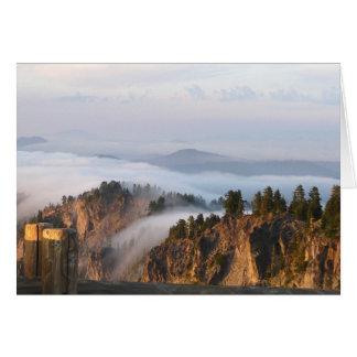 Fog at Crater Lake Greeting Card