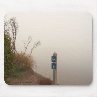 Fog at the Shore Mousepad Mouse Pad