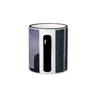 Fog engulfing city ringer mug