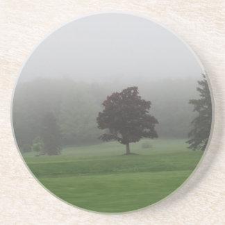 Fog Filled Landscape Beverage Coaster