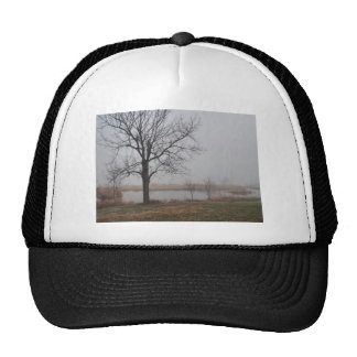 Fog in the early morning trucker hat
