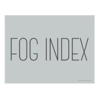 Fog Index Postcard